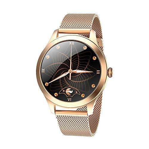 Zwbfu Reloj Inteligente para Mujer Reloj Deportivo con presión Arterial y Monitor de frecuencia cardíaca IP68 Impermeable BT Fitness Compatible con Android iOS Fitness Pulsera Smartwatch