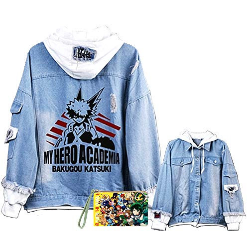 Boku No Hero Academia My Hero Academia Denim Jacket Graphic Hoodie Cosplay Unisex Anime(4,L)