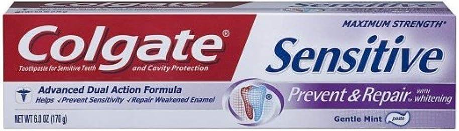 追い出すおもちゃ書士Colgate ホワイトニング、6オズ(3パック)で敏感防止&修理歯磨き粉 3パック