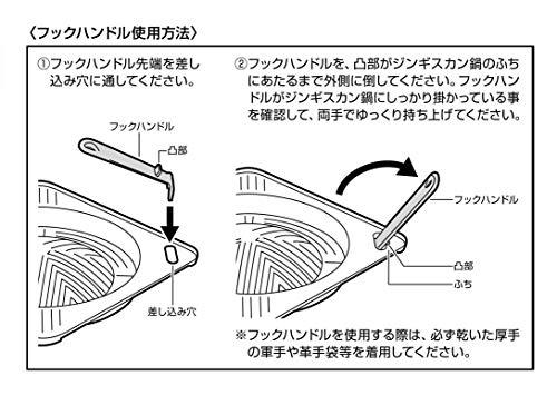 CAPTAINSTAG(キャプテンスタッグ)『鋳物角型ジンギスカン鍋(UG-3039)』