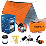 Survival Tent Emergency Shelter with Titan Paracord For 2 Person Tent Emergency Sleeping Bag like...