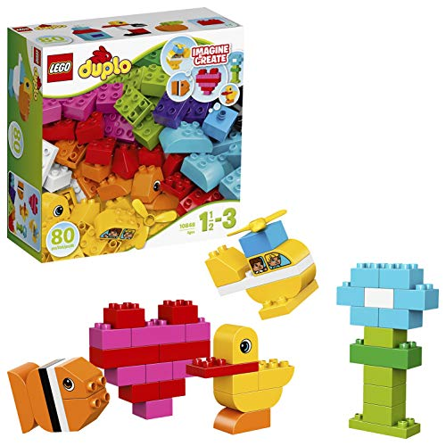 LEGO 10848 DUPLO My First Bricks Large and Mixed Blocks Set with Building Cards, Preschool Toy for Toddlers Age 1.5-3