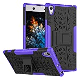 MRSTER Sony Xperia XA1 Ultra Hülle, Outdoor Hard Cover Heavy Duty Dual Layer Armor Hülle Stoßfest Schutzhülle mit Ständer Handyhülle für Sony Xperia XA1 Ultra. Hyun Purple