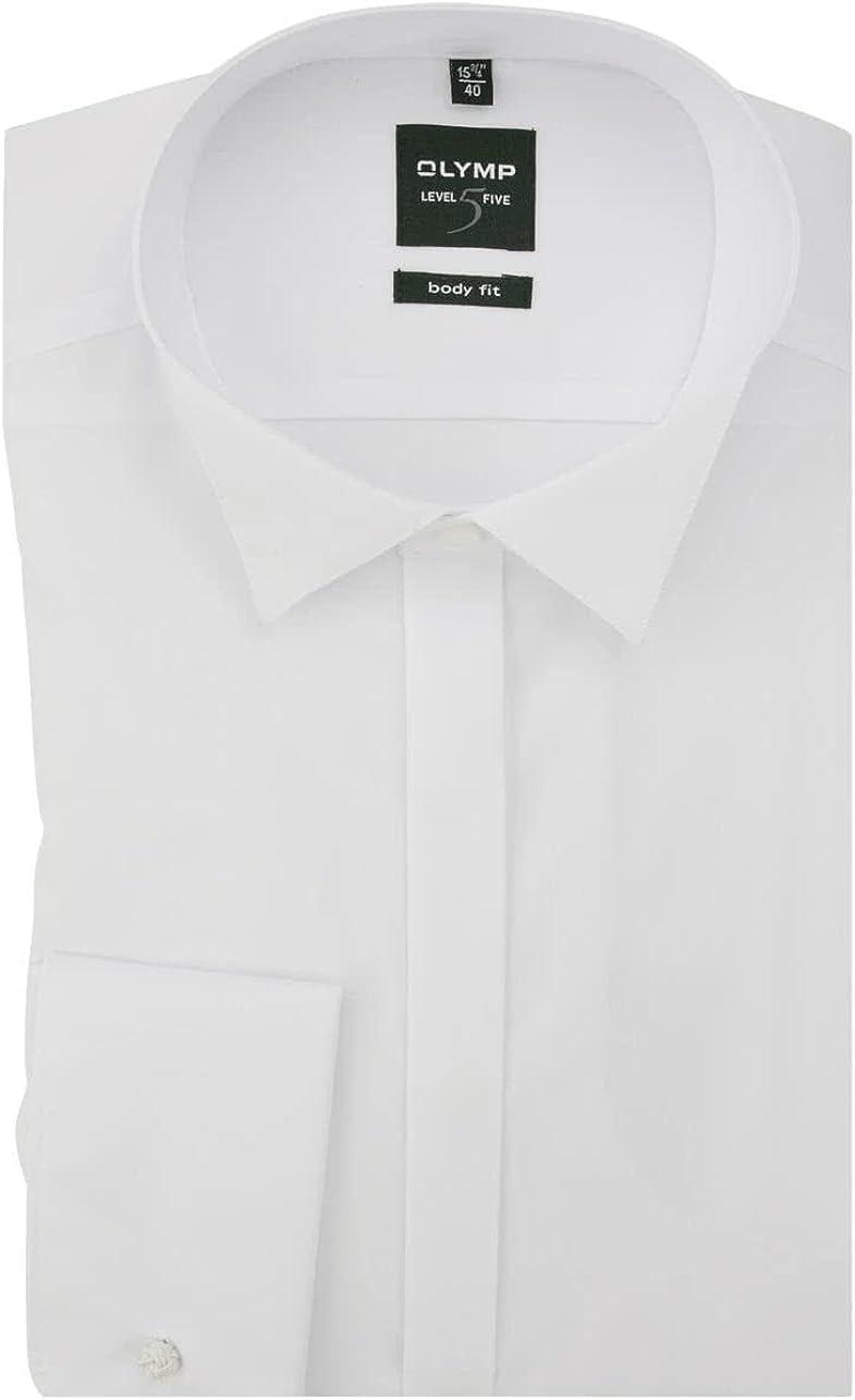 Olymp - Camisa de esmoquin para hombre - Color blanco, 3077 65 00.