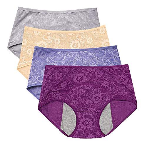 Period Panty Menstruationshose, Jacquard, leicht zu reinigen, US-Größe XXS-4XL/11 -...