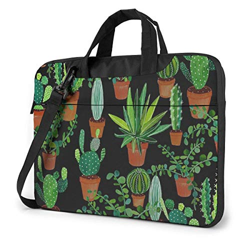 Green Potted Plant Laptop Sleeve Case 14 Inch Computer Tote Bag Shoulder Messenger Briefcase for Business Travel