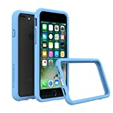 RhinoShield Ultra Protective Bumper Case Compatible with [iPhone 8 Plus / 7 Plus] | CrashGuard - Military Grade Drop Protection Compatible with Full Impact, Slim, Scratch Resistant - Baby Blue