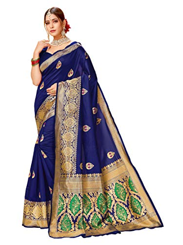 HAOK Sarees for Women's Banarasi Art Silk | Sari tradicional tejido indio...