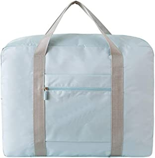 Waterproof Travel Duffel Bag Foldable Packable Lightweight High Capacity Luggage Oxford Cloth Tote Bag 1pc Blue