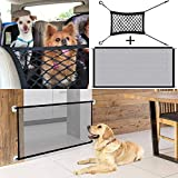 2Pcs Barriera di Sicurezza Estensibile,Magic Gate for Dog, Portatile Pieghevole Dog Cat Barriera di Sicurezza,Cancello di Sicurezza Isolato in Rete per Interni ed Esterni(180*72cm)