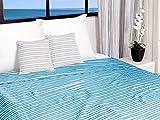 Soleil d'ocre Jeté de lit 220x240 cm COTONADE Turquoise, Polyester Coton, Bleu, 240x220 cm