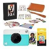 KODAK PRINTOMATIC Instant Print Camera (Blue) 2x3 Photo Album Kit