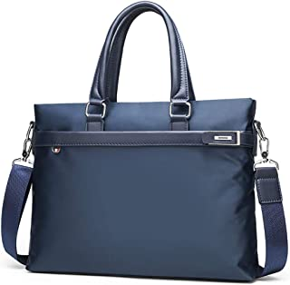 Men Portable Briefcase Messenger Bag Handbag, Oxford Cloth Tote Waterproof Briefcase, Business Computer Bag Shoulder Bag,2