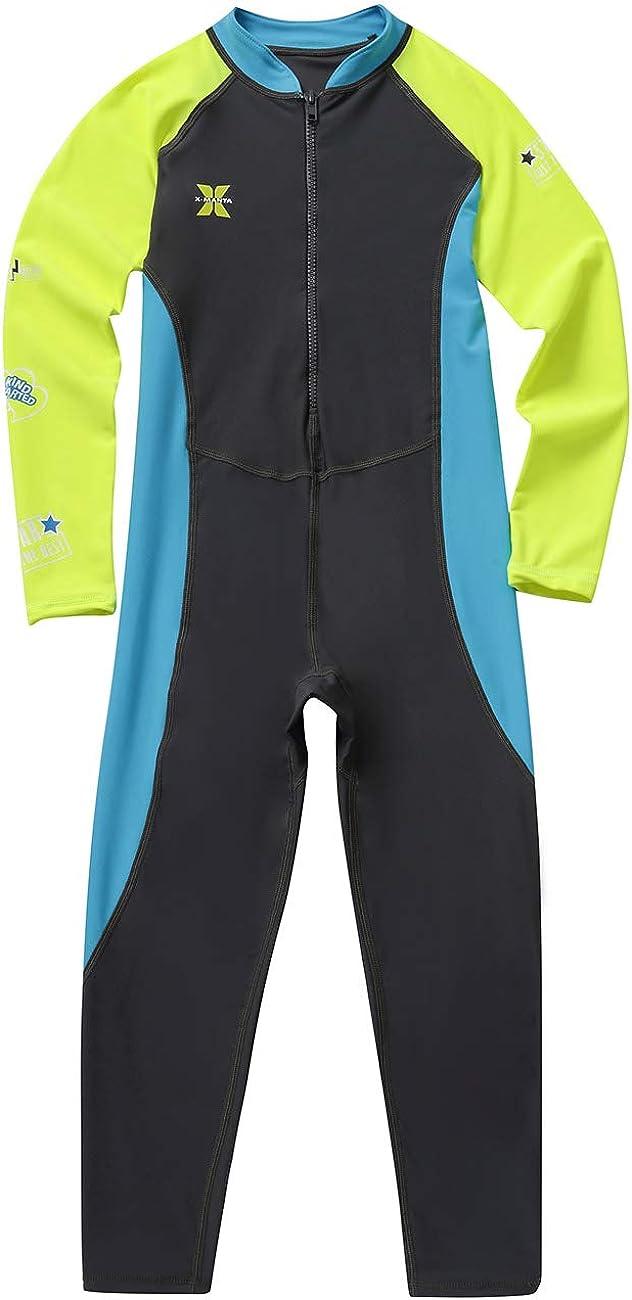 Gogokids Kids Long Sleeves Swimsuit - Boys Girls One Piece Sunsuit Swimwear
