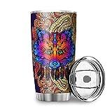 Wraill Traumfänger zorro acero inoxidable taza doble pared aislamiento 600 ml taza de viaje con tapa resistente a...