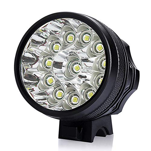 ZIHAOF 2500LM Fahrradlicht, T6 LED Fahrrad-Frontlichter, 7800mAh LED Fahrradlicht Set, 3 Licht-Modi, IPX6 Wasserdicht/ 6 * 18650 Akku,12lampbeads