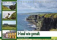 Irland wie gemalt (Tischkalender 2022 DIN A5 quer): Malerisches Irland (Monatskalender, 14 Seiten )