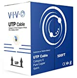 VIVO Blue 500ft Bulk Cat6, Full Copper Ethernet Cable, 23 AWG, UTP Pull Box, Cat-6 Wire, Indoor, Network Installations CABLE-V017