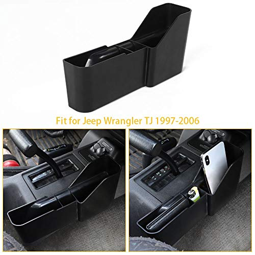 Car Gear Shift Side Storage Box Phone Card Holder Co-Pilot Seat Side Organizer for Jeep Wrangler TJ 1997-2006