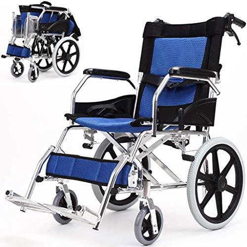 N/Z Equipo Diario Silla de Ruedas Aluminio Plegable con Mesa de Comedor y paragüero Freno Doble Neumático no neumático Reposabrazos Ajustable Patinete para discapacitados/Ancianos
