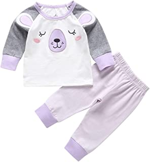 Winzero Baby Boys Girls Rompers Cotton Onsises Jumpsuit Sleepsuit Toddler Infant Newborn Cute Cartoon Pyjamas Pjs Coveralls Unisex Outfits 0-18 Months