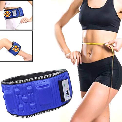 BCQ Schlankheitsgürtel, Elektrisch vibrierender Schlankheitsgürtel, Körpergürtel-Bauchmassagegerät, Bauchfettverbrennungsheizung für Frauen und Männer