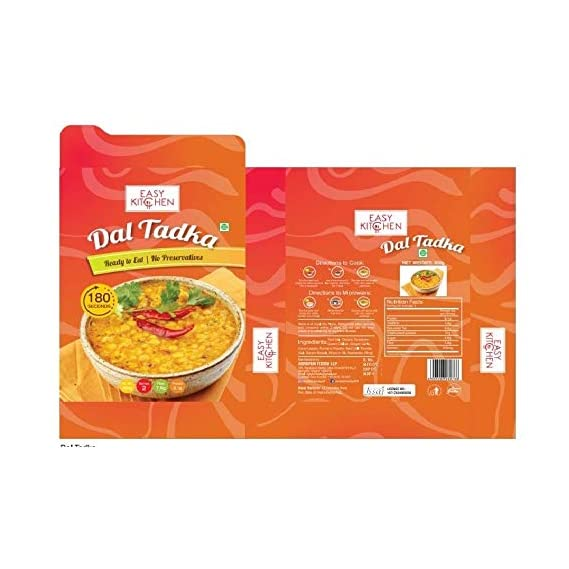 Dal Tadka, Ready-to-Eat, Pack of 3(300 Grams Each) by Easy Kitchen