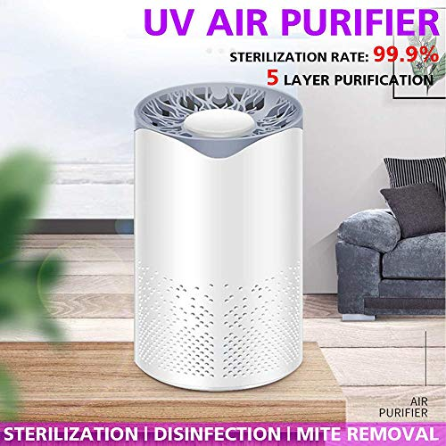 Hplights-Compact-Air-Purifier-with-UV-HEPA-Carbon-Filters-UV-Cleaning-Light-Technology-Kills-Germs-Bacteria-Viruses-As-Small-As-03-Microns-Air-Filtration-Purification-Removes-Allergens