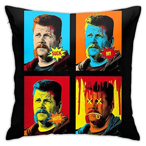 HONGYANW The Champ Walking Dead Pop Art Funda de almohada, impresión de doble cara, funda de almohada con cremallera oculta, hermosa funda de almohada de 45,7 x 45,7 cm