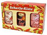 Senf Geschenkset - Scharfe Kiste, 3 x 300 g