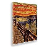 Giallobus - Pinturas - Edvard Munch - El Grito - Lienzo - 70x100 - Listo para Colgar - Cuadros Modernos para el hogar