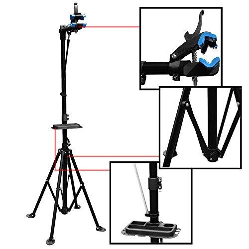 WilTec Pied d'Atelier pour vélos pivotant 360° Support de Montage Jusqu'à 30kg