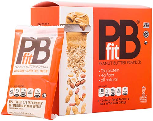 PB Fit Peanut Butter Powder - 8 Packets (24g each) - All Natural
