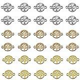 Jixista Schmuckverbinder Lebensbaum Set Metall Schmuckverbinder Infinity Anhanger Verbinder Verschluss Gemischte Farbe Armband Zwischenstück Baum Lebensbaum Armband basteln DIY Schmuck 30PCS