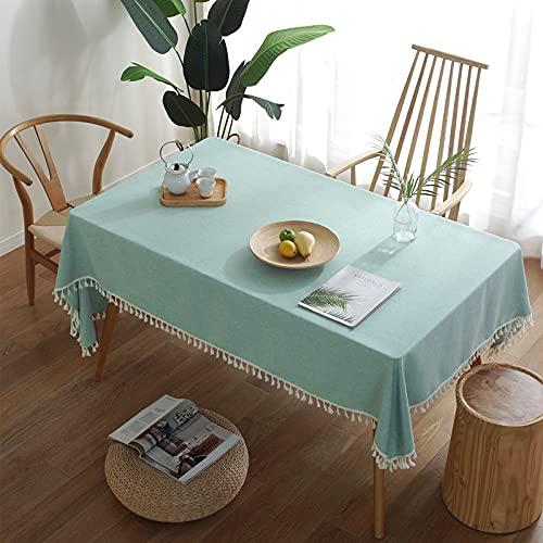 NHhuai Adecuado para Cocinas Exteriores O Interiores Mantel Mesa Borlas de Color Puro