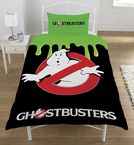Ghostbusters Classic (Glow n The Dark) Single Duvet Set, Polyester-Cotton, Multi-Colour