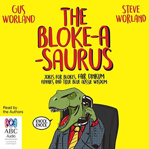 The Bloke-a-Saurus audiobook cover art