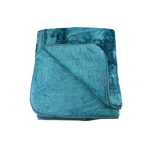 Amago Manta de sofá, Sensación de Cachemira, Azul Petróleo, 180 x 220 cm, 40024-54-8020