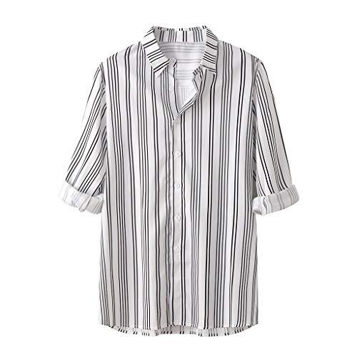 Hemd Herren Hemden Business freizeithemd männer oberhemden Moderne Casual anzughemden Freizeit Herren Sommer Mode Lässig Revers Print Kurzarm Shirt Top Bluse