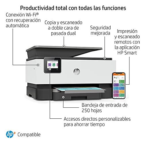 Impresora Multifunción HP OfficeJet Pro 9010e - 6 meses de impresión Instant Ink con HP+