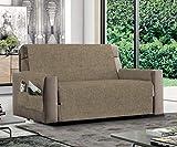 MB HOME BASIC Funda de sofá Antideslizante Relax, Color Pardo, 4 plazas