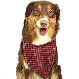 YAGEAD Pañuelo para Perros Cachorro y pañuelos para Mascotas, Cuadrícula Abstracta Patrón Ombre Píxeles Tecnología Digital Teja Teja Bufanda para Mascotas