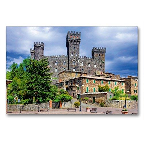 CALVENDO Premium Textil-Leinwand 90 x 60 cm Quer-Format Castello di Torre Alfina, Leinwanddruck von Thomas Polske
