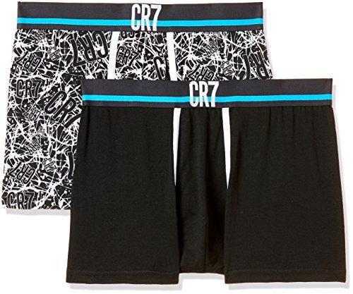 CR7 Cristiano Ronaldo - Fashion - Enganliegende Boxershorts (Retroshorts/Trunks) für Herren - 2-Pack - Größe Groß (CR7-8302-4900-506-L)
