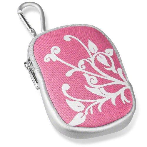 Mantona CamHülle pink Lifestyle Tasche für Digitalkameras, Handys, Schlüssel & Make-up