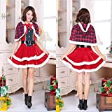 Dgcrf Skirt Christmas Costumes for Adults Women Winter Santa Claus Deer Tree Cosplay Fancy Party...