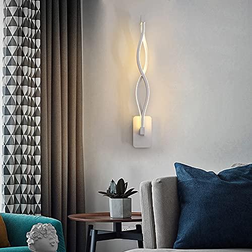LANMOU Modern Spiral Wandleuchte, LED 18W Aluminium Wandlampe für Schlafzimmer Innen Wandbeleuchtung für Wohnzimmer Treppenhaus Korridor Flurlampe Dekoration,Weiß,6000K