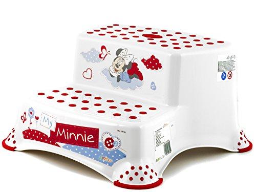 OKT Minnie Mouse Tabouret Deux Étapes Blanc