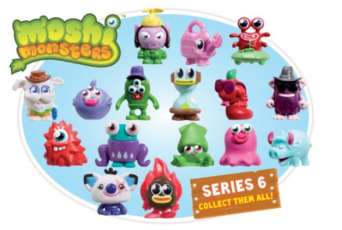 Moshi Monsters Series 6 - Muñecos de Monstruos, diseños Variados