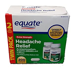 Combines acetaminophen (250mg), aspirin (250mg) and caffeine (65mg) to provide powerful headache relief Temporarily relieves minor aches and pains caused by: Headache, a cold, arthritis, sinusitis, toothache, etc. Compare to Excedrin extra strength c...